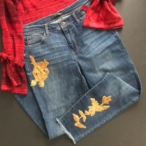 Stitch Star jean with embroidered sequin appliqués